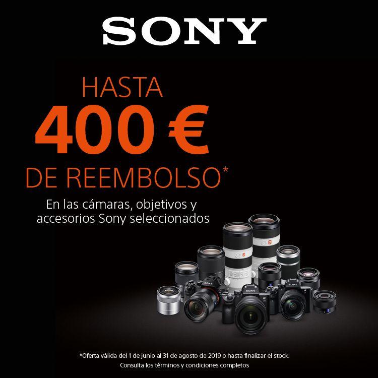 SONY CASHBACK HASTA 400€ - En una selección de cámaras y objetivos