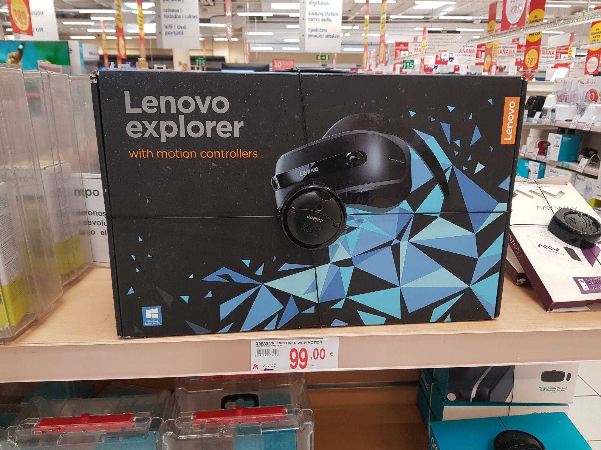 Gafas de vr Lenovo explorer (Alcampo del C. C. La Vega)