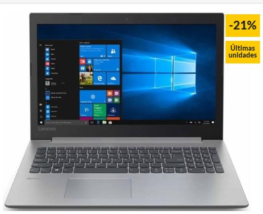 Portátil LENOVO Idepad 330-15IKBR - 81DE013BSP (15.6'' - Intel Core i5-8250U - RAM: 8 GB - 256 GB SSD - Intel UHD 620)