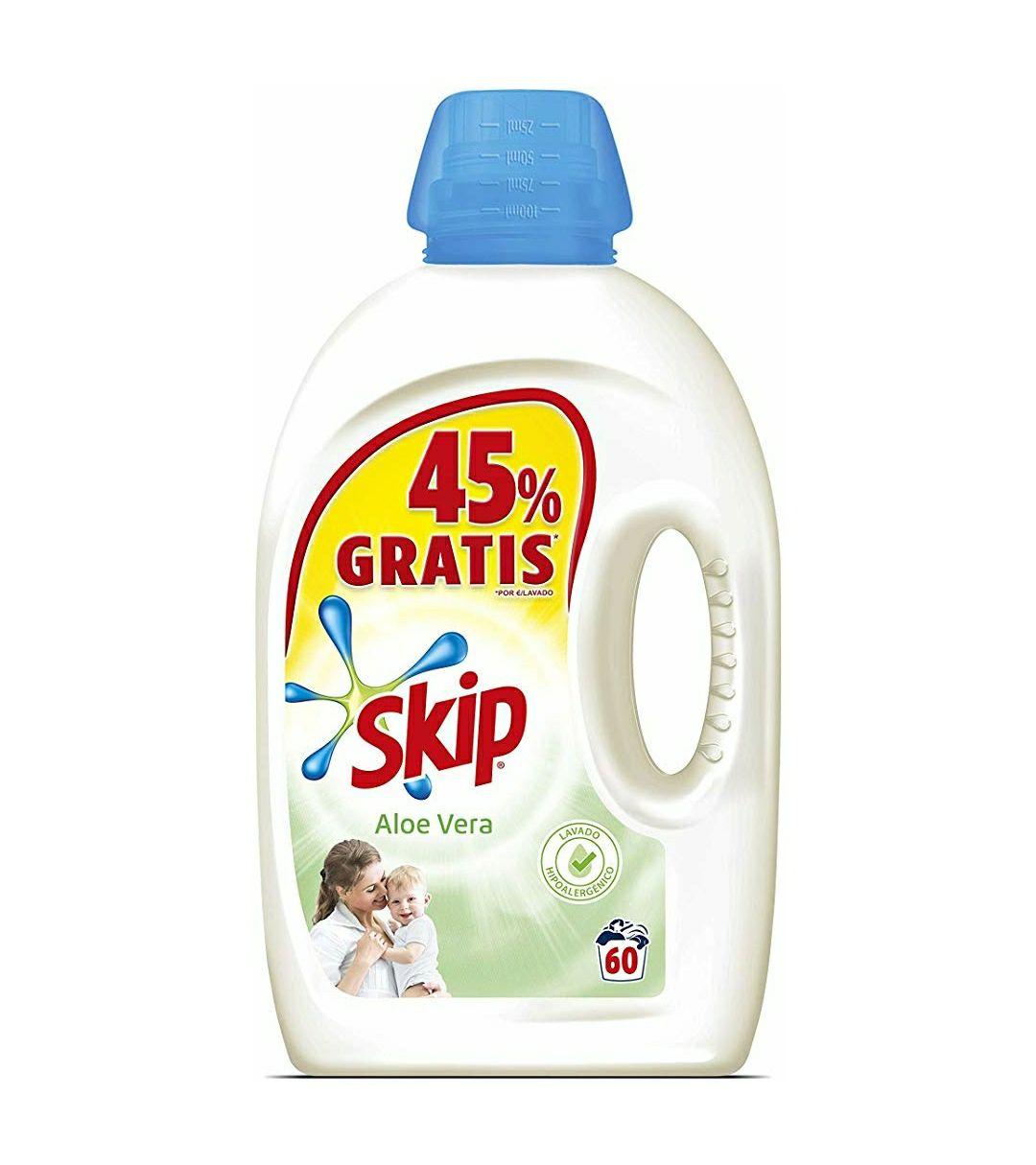 60 Lavados Detergente Líquido Skip Aloe Vera [MINIMO HISTÓRICO]