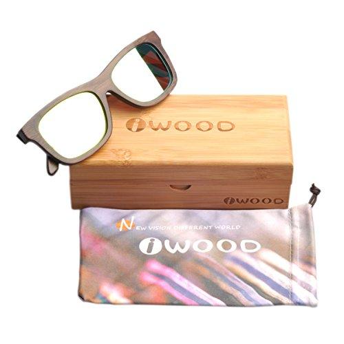 Gafas de sol unisex polarizadas de bambú a precio de carcajada (reaco)