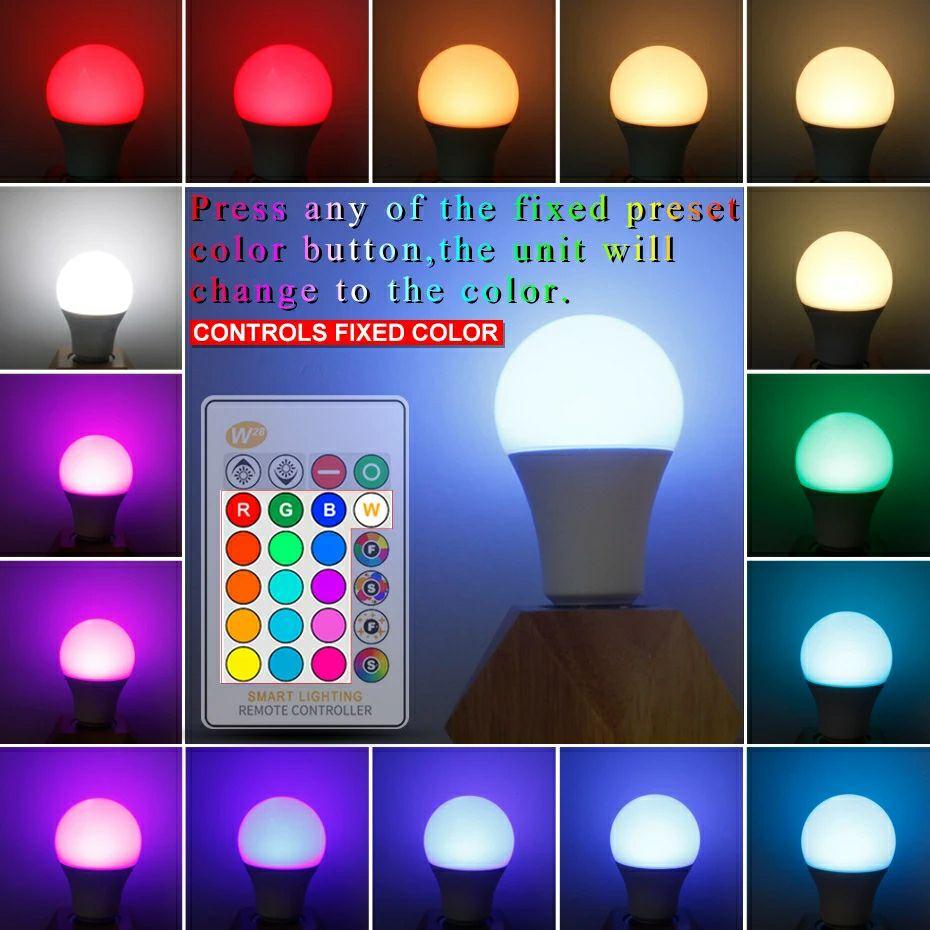 Bombilla LED RGB por 2.11€