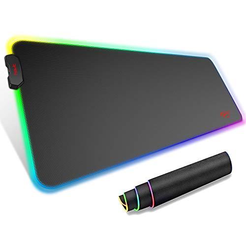 Alfombrilla de Raton Gaming RGB 80cm * 30cm * 4 mm con Base de Goma Antideslizante