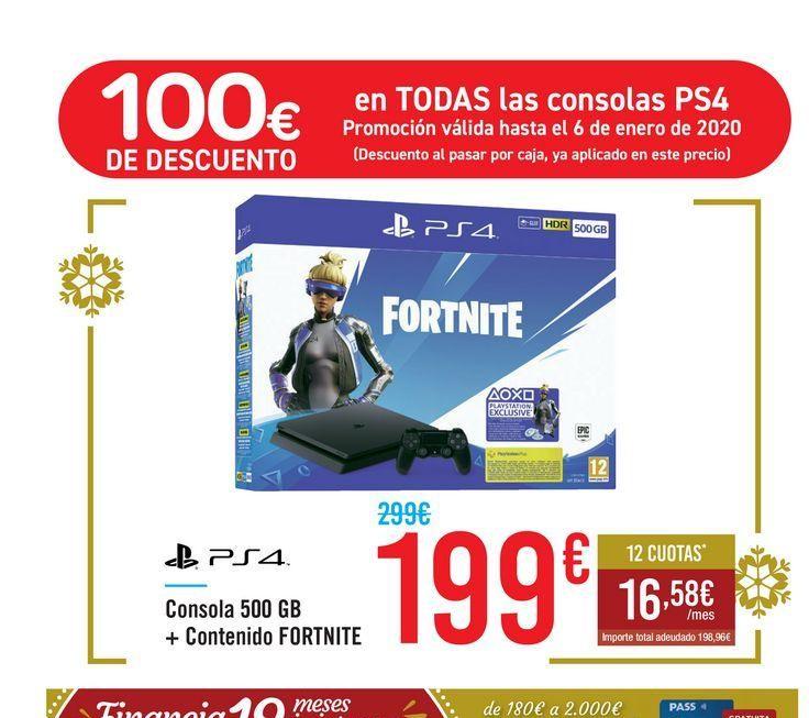 Todos los packs de PS4 con 100€ de descuento a partir del 19/12 (TODAS LAS TIENDAS)