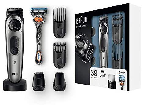 Braun BT7040 - Recortadora Barba y Cortapelos para Pequeños Detalles, Miniafeitadora, con Maquinilla Gillette Fusion 5 ProGlide
