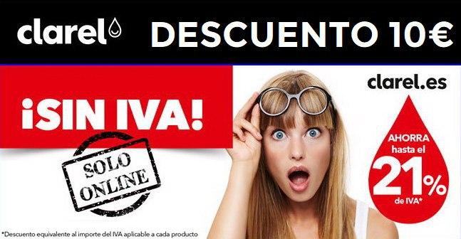 Día sin IVA en Clarel + 10€ de descuento