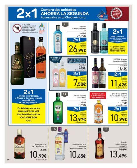 Nuevo catálogo EN EXCLUSIVA 2ª unidad al 70% + 2x1 en cheque en selección bebidas alcohólicas