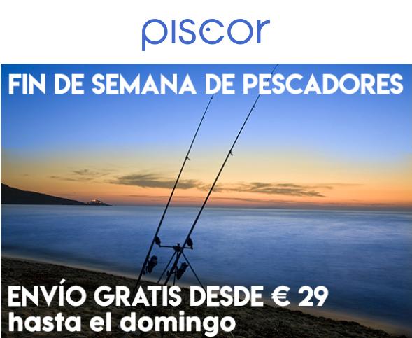 Productos profesionales para la pesca 10% (mínimo 79€) + Envío gratis (mínimo 29€)