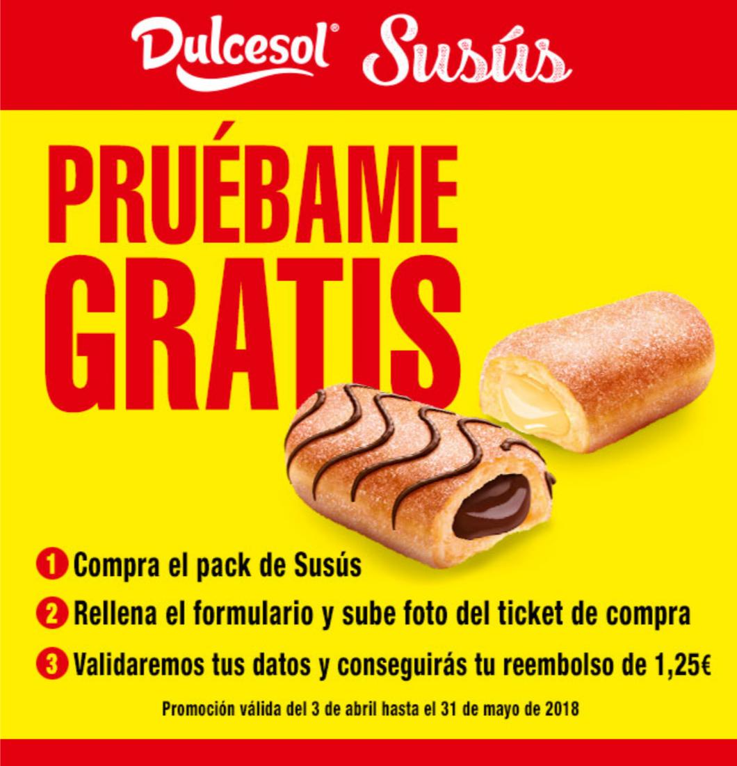 Prueba gratis: Dulcesol Susús Crema o Cacao y avellanas