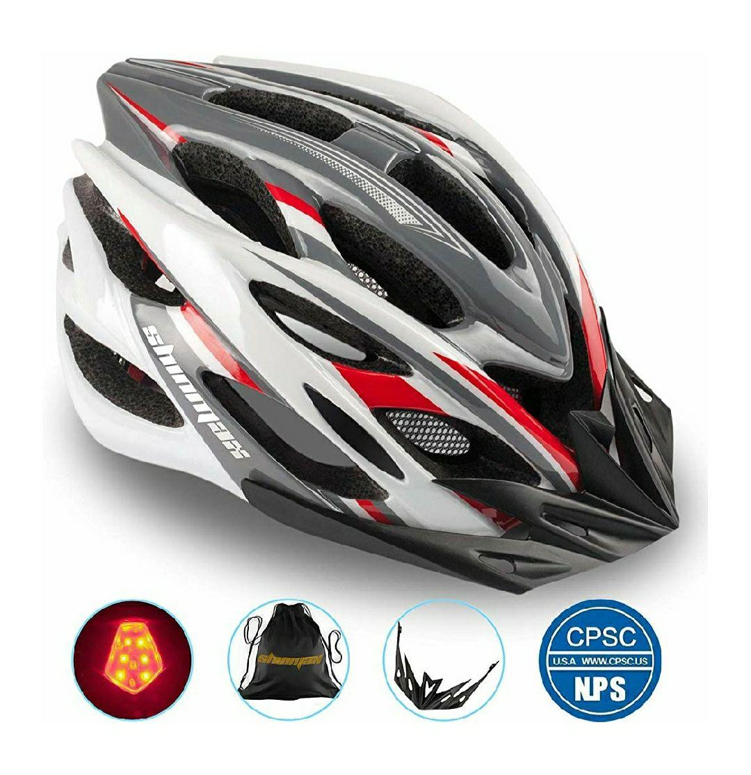 Casco Bicicleta con Visera, Protección de Seguridad Ajustable