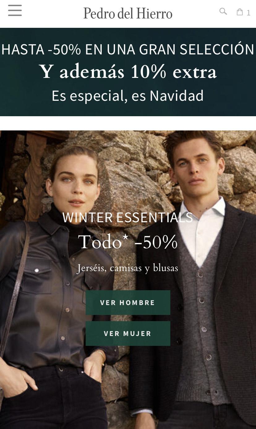50% + 10% en Pedro del Hierro