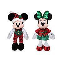 Set de peluches Mickey y Minnie, Holiday Cheer, Disney Store