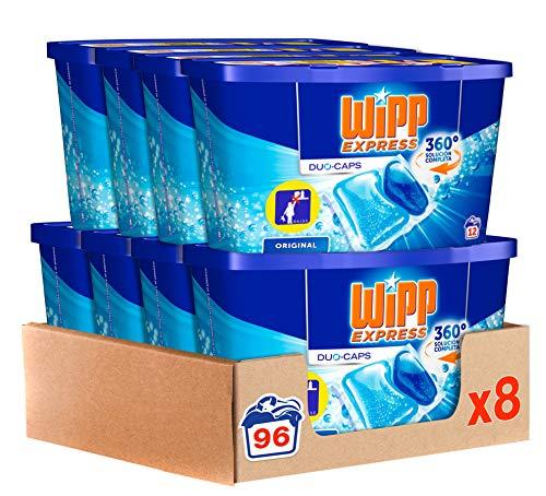 Wipp Express Detergente en Cápsulas, 12 Dosis - Paquete de 8, Total: 96 Lavados