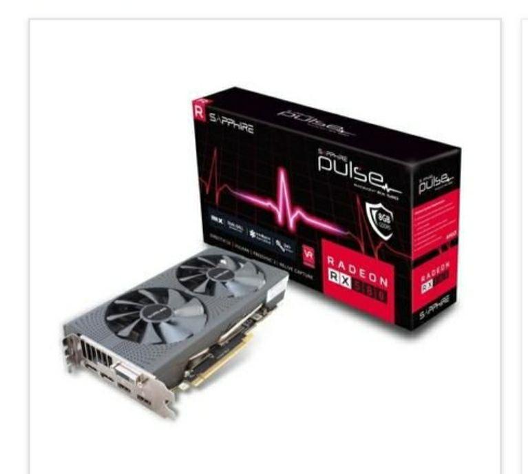 Sapphire AMD pulse mhz 1366 Radeon RX 580 8 Go - GDDR5 (11265-05-20G)