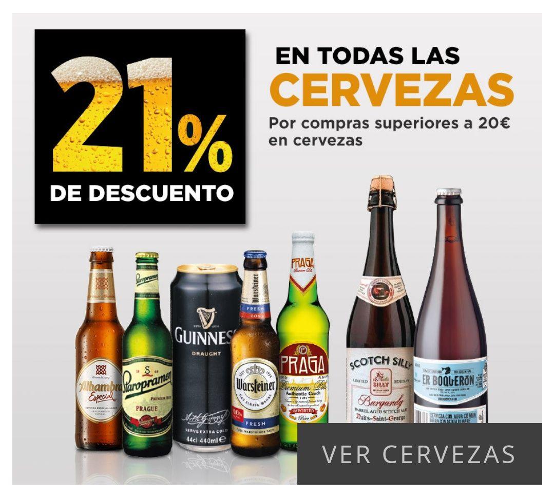 Descuento 21% en cervezas.