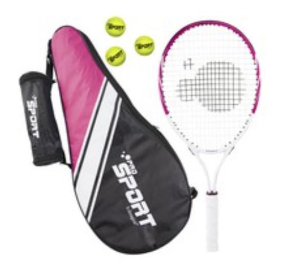 Raqueta de tenis para niños + 3 pelotas + bolsa de transporte
