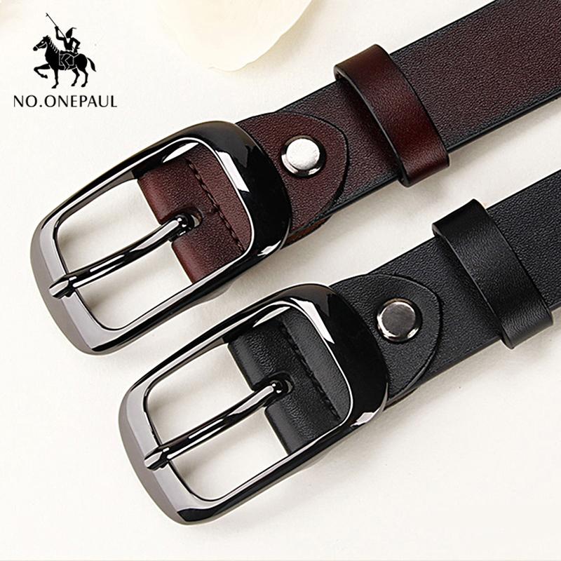 Cinturón de cuero genuino para mujer . 110 cm