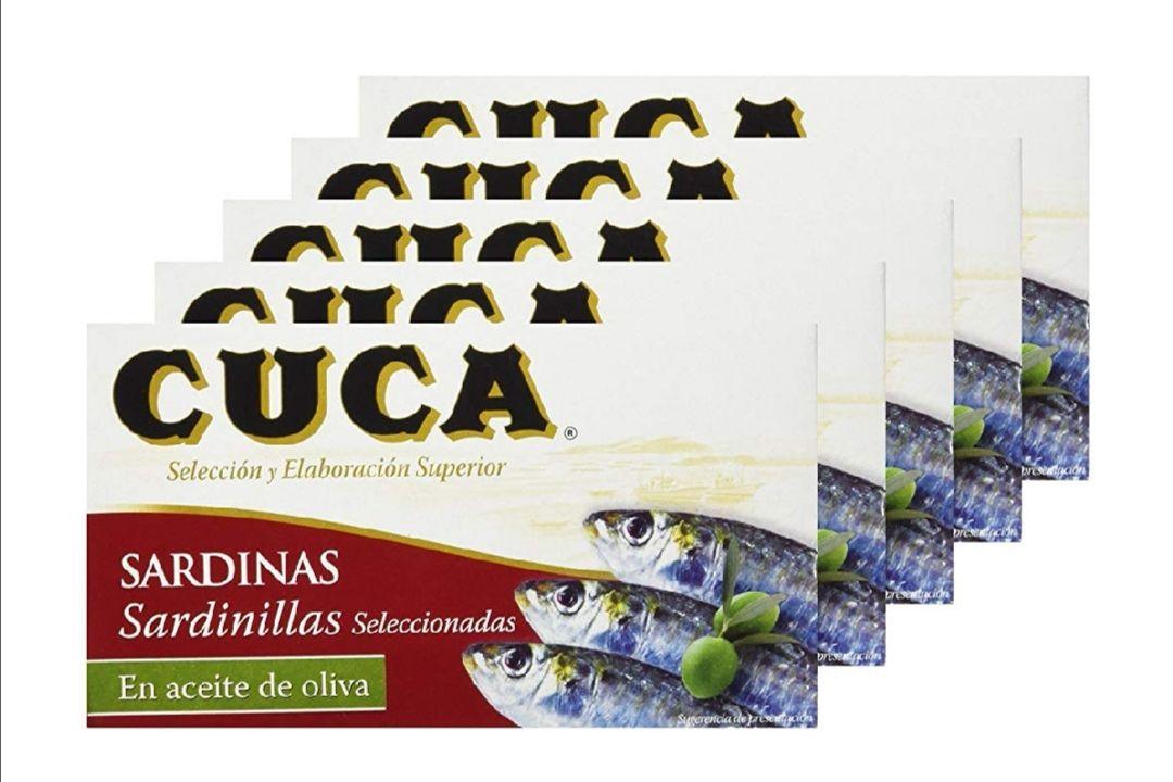 Sardinillas en aceite de oliva cuca 90 gr. - (1.86 € unidad.) PACK DE 5