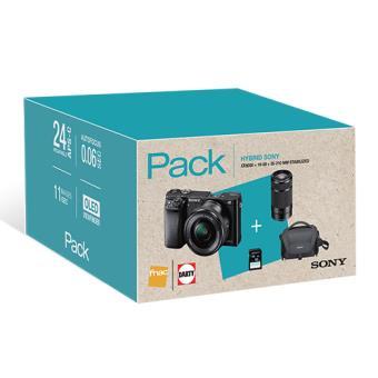 Cámara Sony ILCE-6000 + 16-50 mm + 55-210 mm Pack