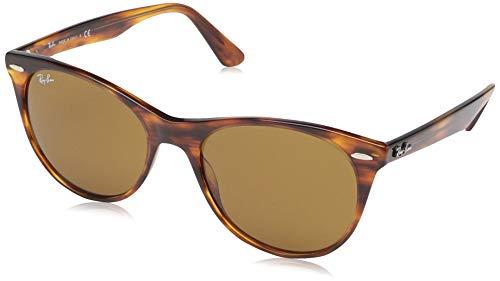 Ray-Ban 0RB2185 Gafas de Sol, Striped Havana, 55 para Mujer (Amazon Prime)
