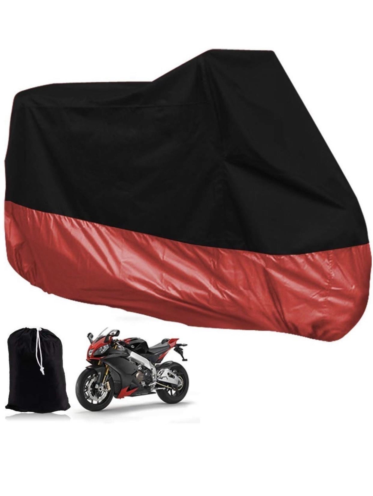 Funda Moto XXXL Rojo y Negro
