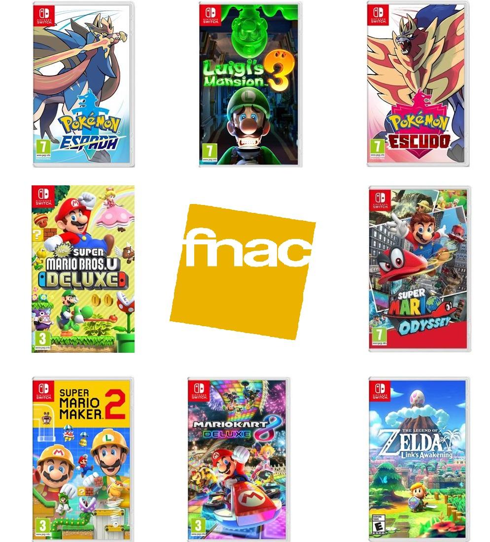 Rebajas juegos Nintendo Switch (FNAC Socios)
