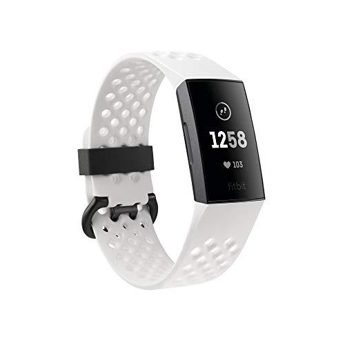 Fitbit Charge 3 (FITBIT PAY) Pulsera Avanzada de Salud y Actividad física, Unisex-Adult, Grafito/Blanco, Talla Unico
