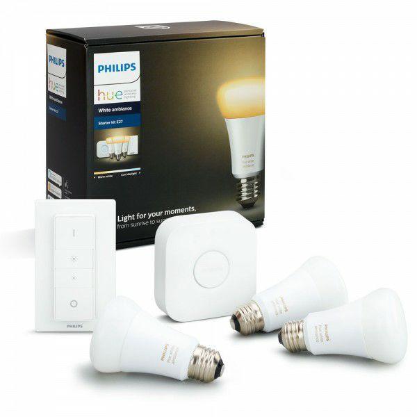 Kit 3 bombillas LED E27 + puente + mando a distancia