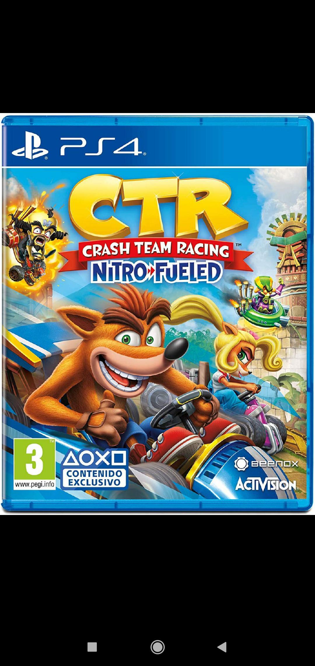 Juego Crash Team Racing Nitro Fueled PS4