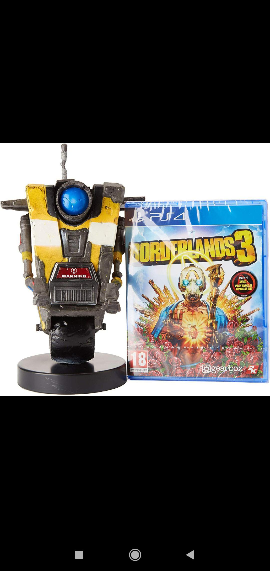 Pack Juego Borderlands 3 + Cable Guy (soporte de mando) Clap Trap PS4