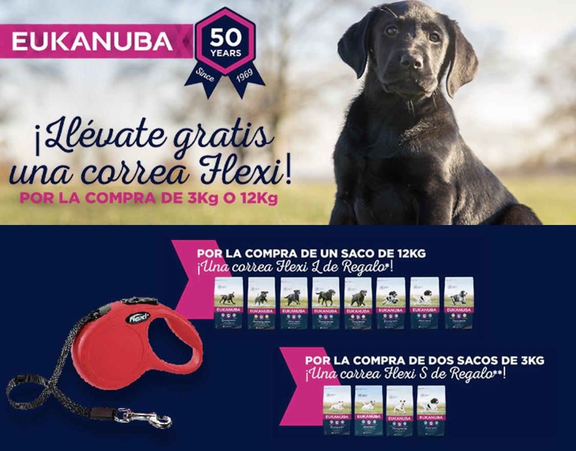 Correa flexi Gratis por compra de pienso para perro