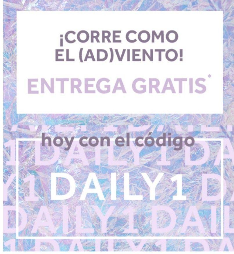 Entrega gratis hoy con el códigoDAILY1
