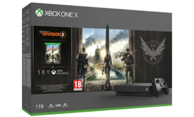 Xbox One X 1TB + Tom Clancy's The Division 2 (Recogida en tienda)