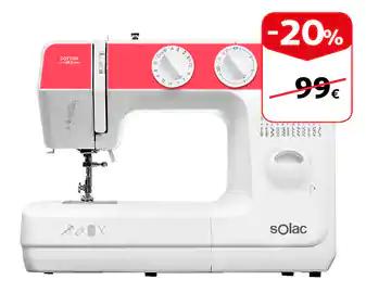 Máquina de coser SOLAC 20%