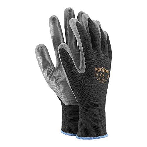 Pack 240 Guantes de protección Ogrifox OX-Nitricar_Bs8 (0.70cent por 10 guantes)