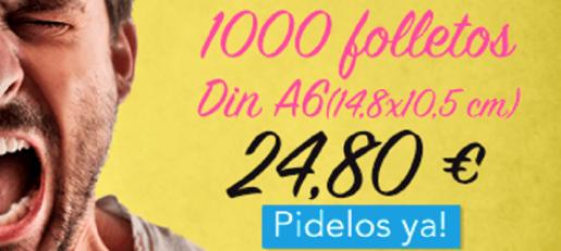 1000 folletos Din A6 con Envío Gratis
