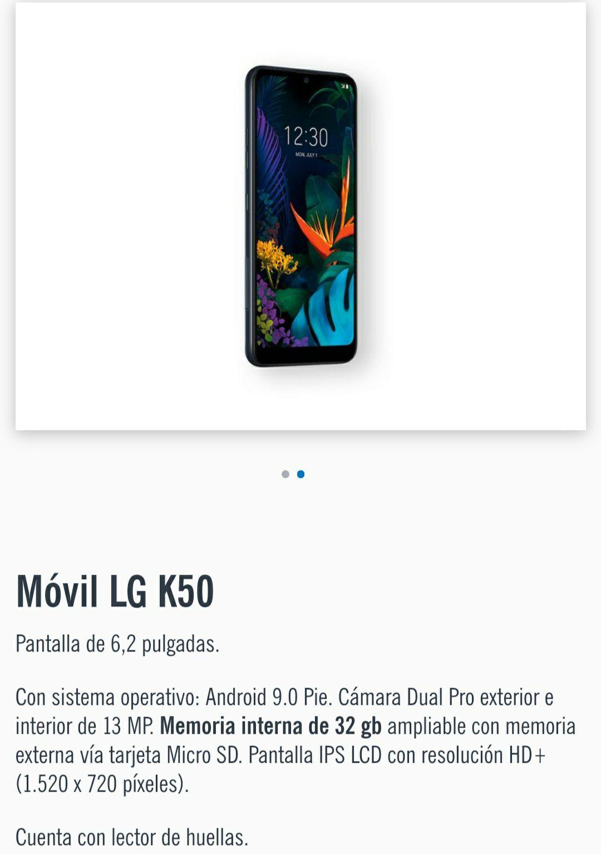 Móvil LG K50 por 119 en lugar de 199€ en Lidl