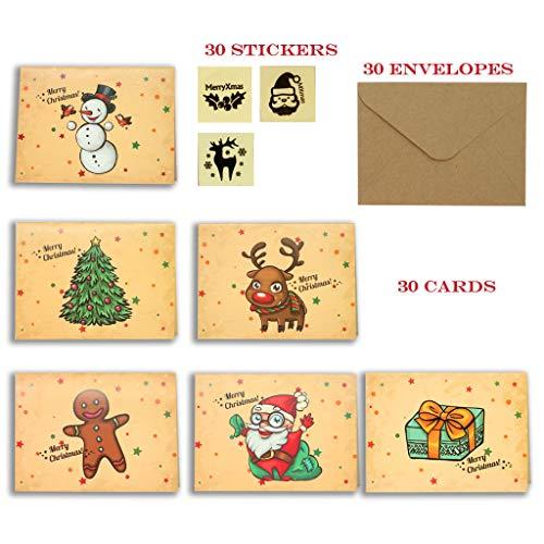 30 Tarjetas de Feliz Navidad Tarjetas de Renos