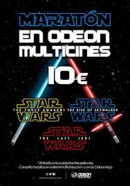 Maratón Trilogía Star Wars.