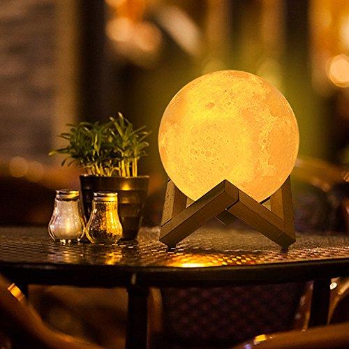 Lámpara de Luna en 3D LED Luz Nocturna
