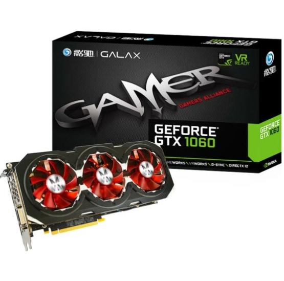Tarjeta Gráfica Galaxy GTX 1060 GAMER 3GB [Envío desde China]