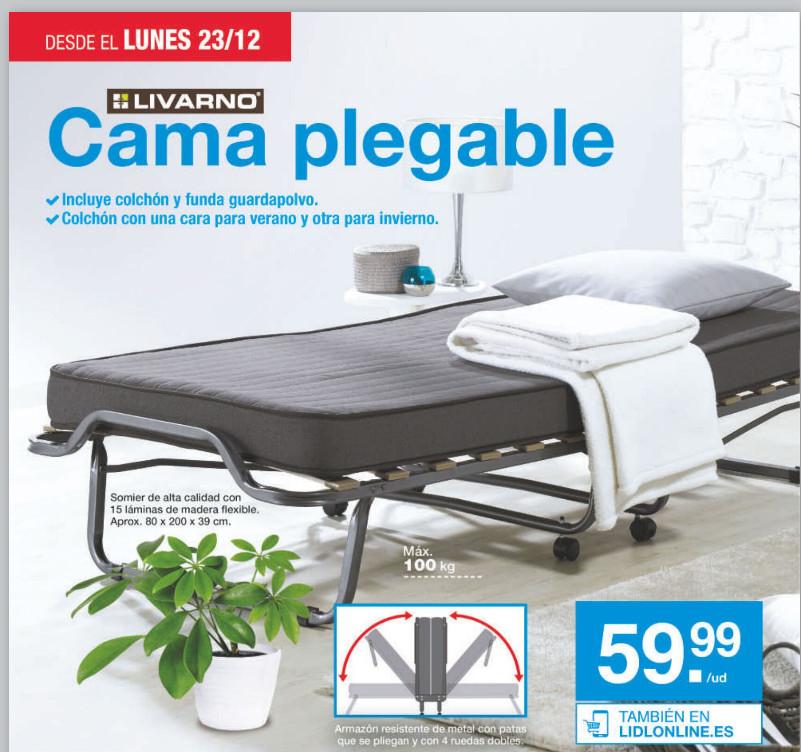 LIDL (A partir del 23/12): Cama plegable de 2 metros (Somier + colchón + funda) por sólo 59,99€