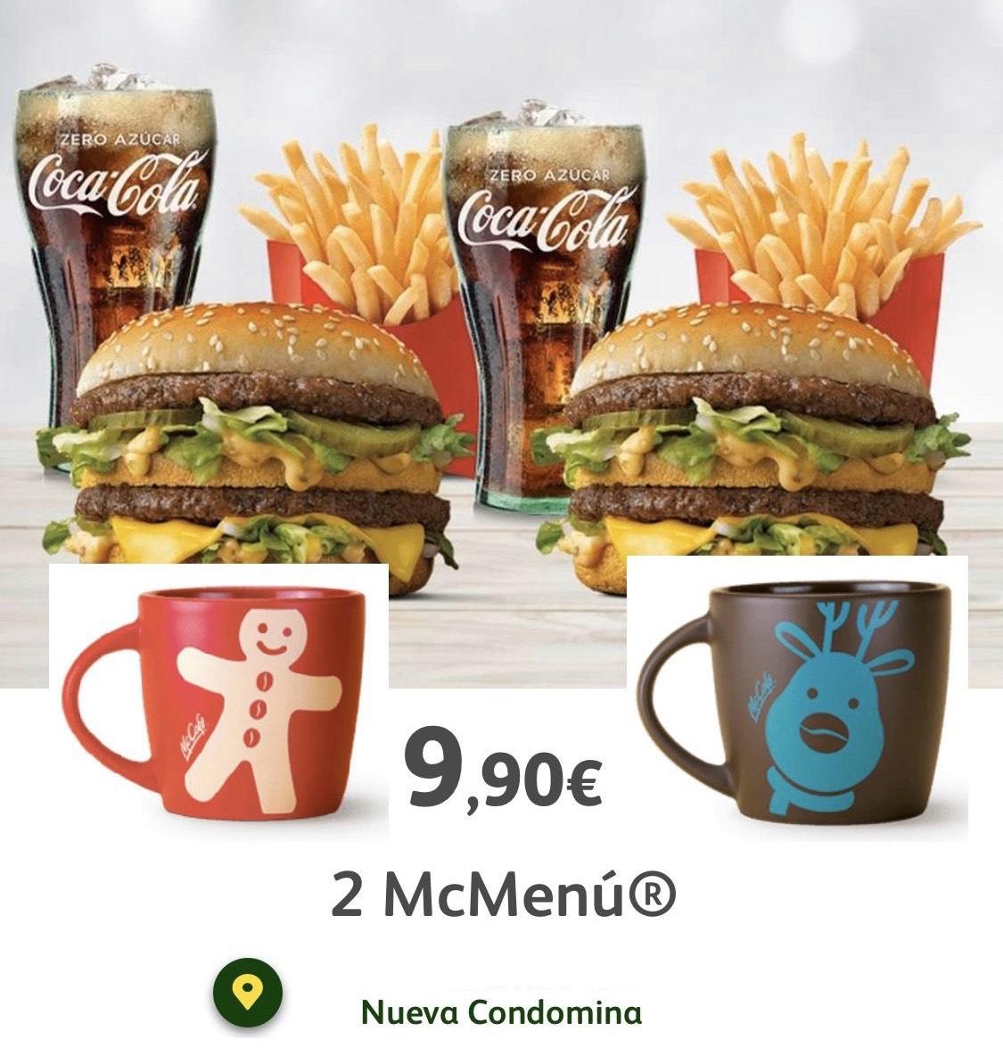 Ofertón 2 McMenú Grandes + 2 Tazas (Mcdonalds Nueva condomina, Murcia)