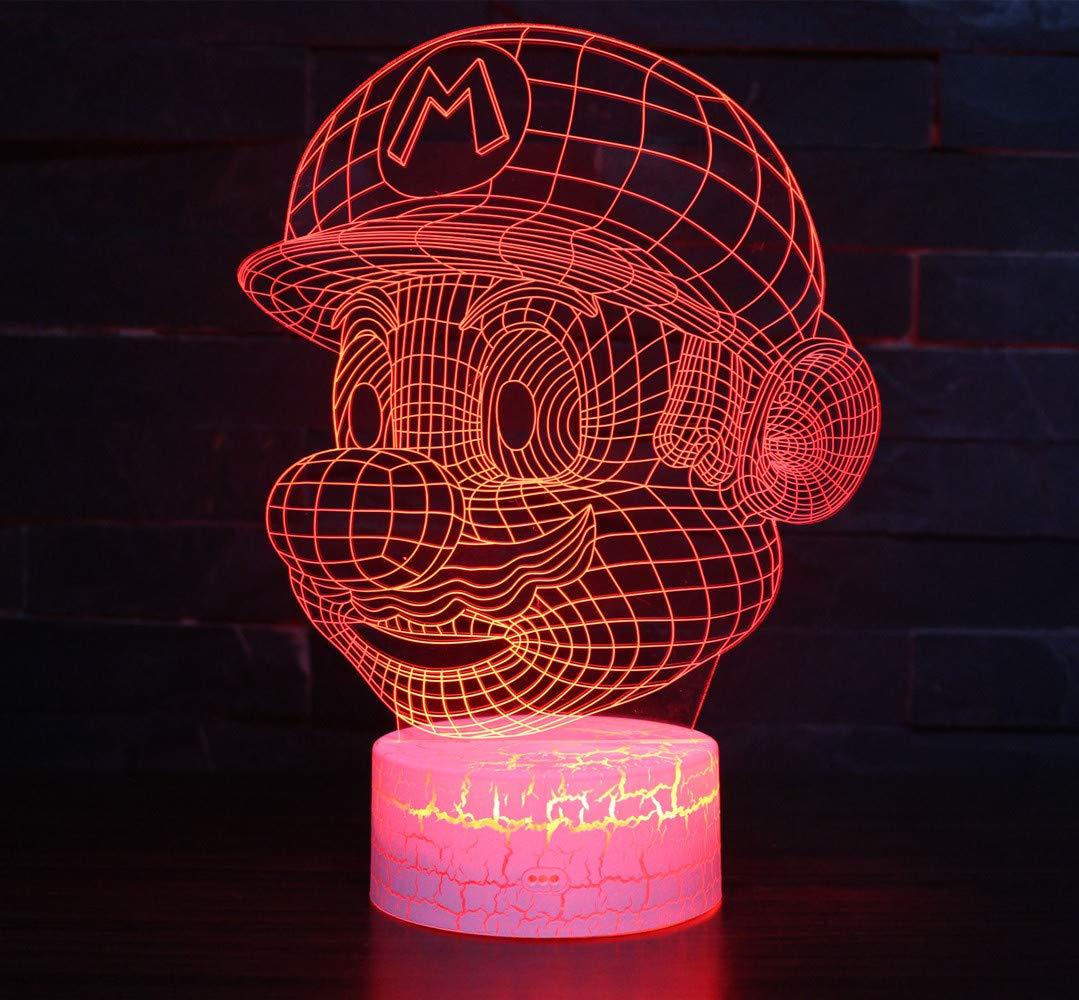 Lámpara 3D [RGB] Mario Bros o Dragon Ball