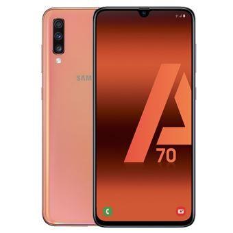 Samsung A70 solo color coral agotado online, solo stock en algunas tiendas físicas