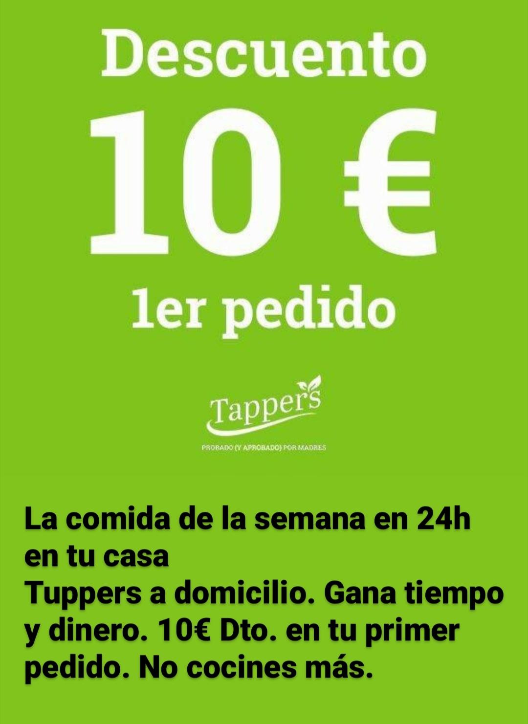 10€ de descuento en comida preparada por suscribirte a la newsletter (tappers)