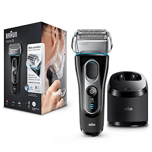 Afeitadora eléctrica Braun Series 5 5197 Clean&Charge útil en húmedo y seco