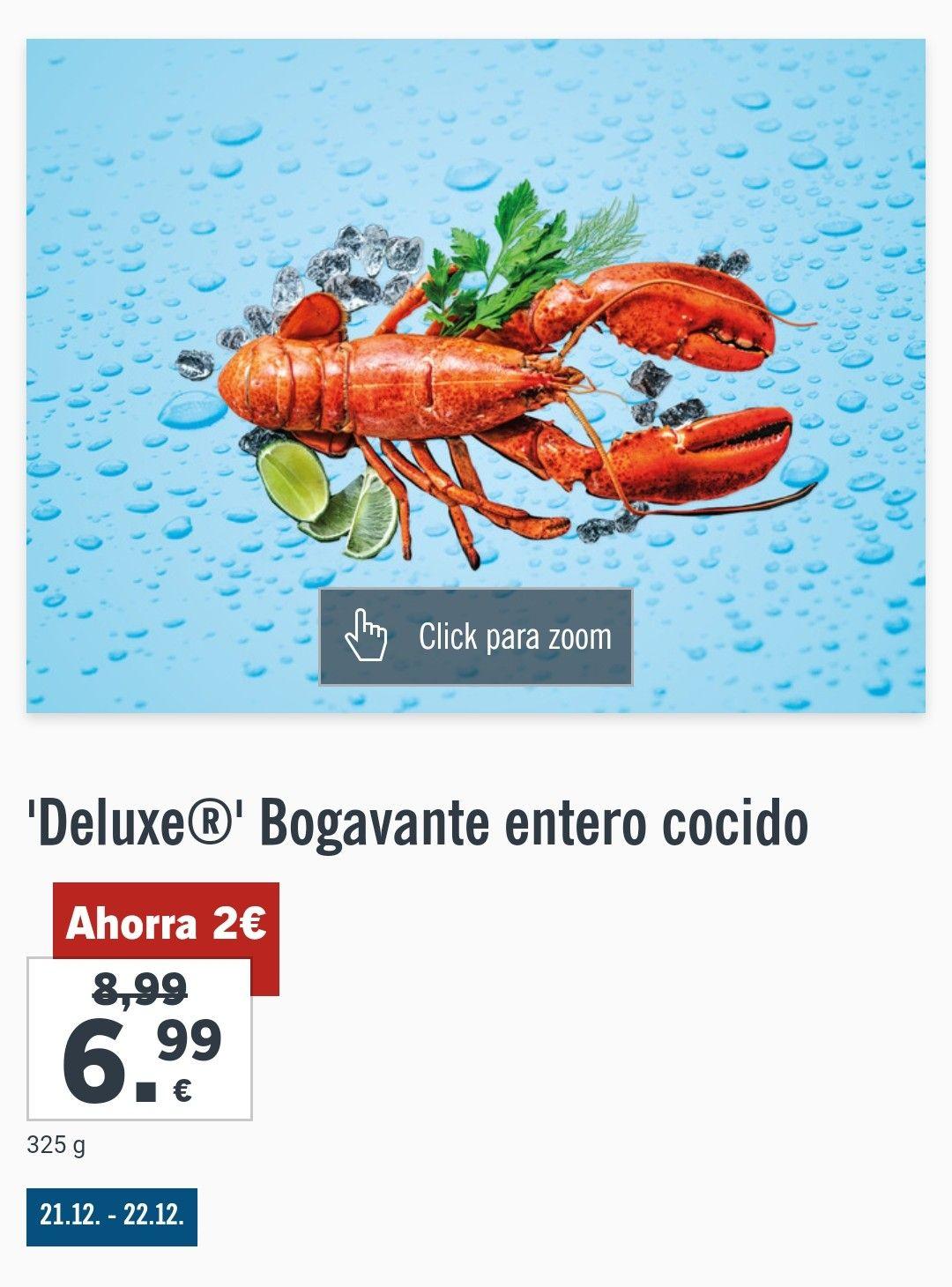 Bogavante cocido 325grms 6,99