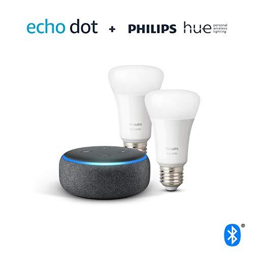 Echo Dot + Philips Hue White Pack de 2
