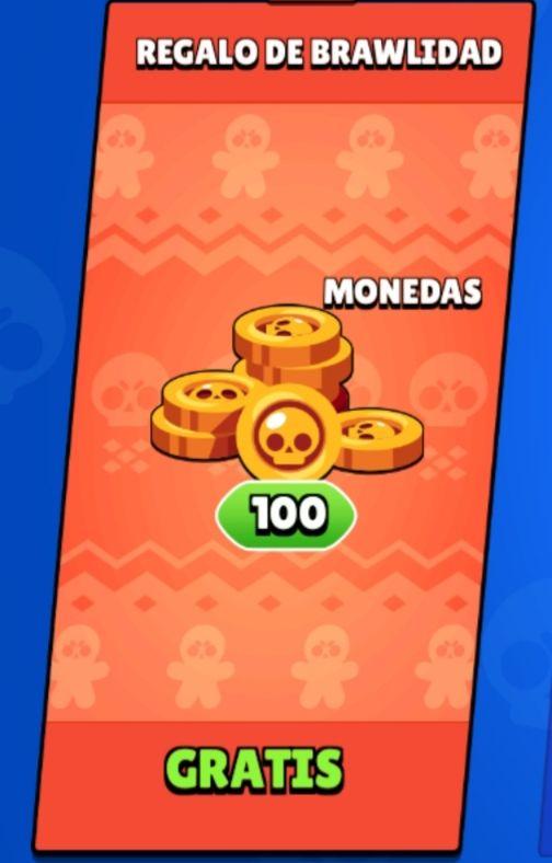 100 monedas gratis en Brawl Stars